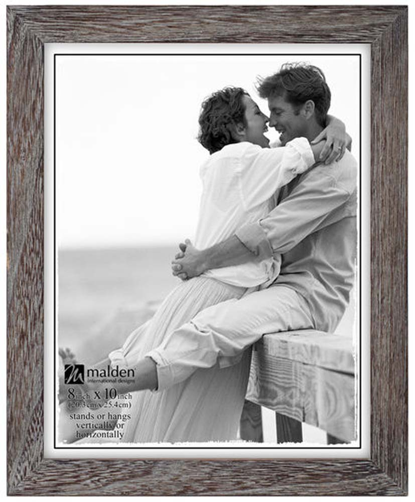 Malden International Designs Linear Rustic Wood Picture Frame 8x10