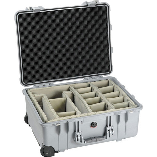 Details about Pelican 1564 Waterproof 1560 Case with Dividers (Silver)