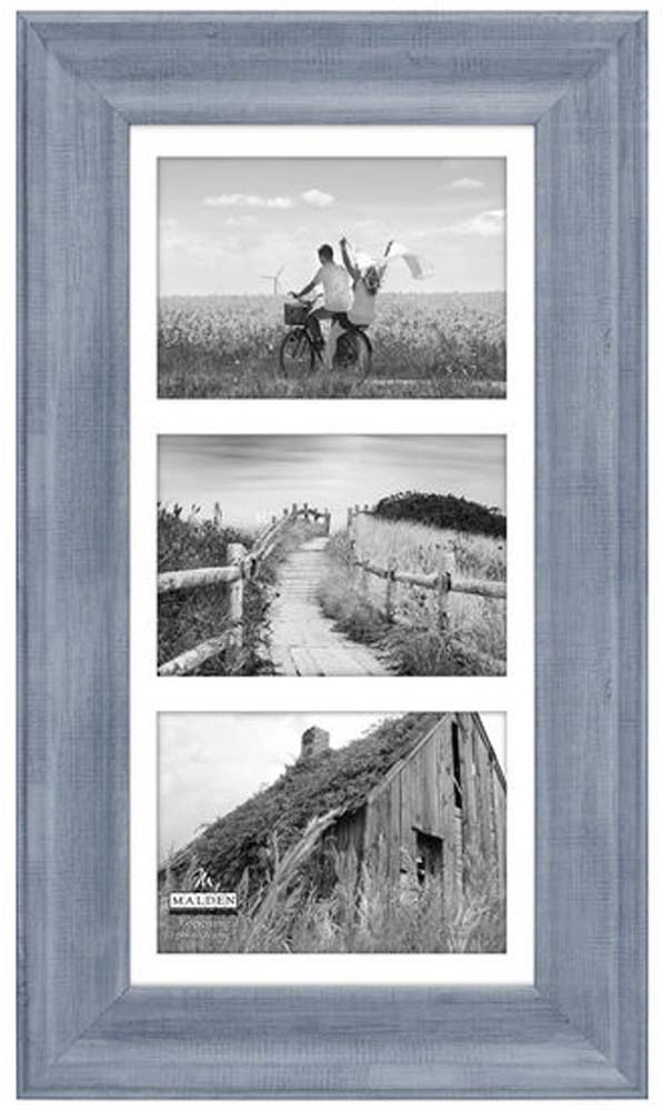 Malden 5x7 Mat Denim Blue 3 Opening Frame | eBay