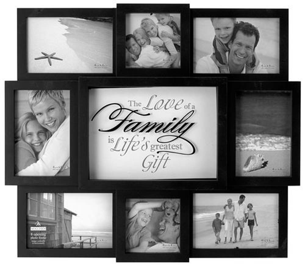 Colorful Family Collage Picture Frames Ornament - Framed Art Ideas ...